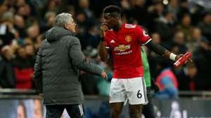 Pogba Mourinho Tottenham Manchester United Premier League 01312018