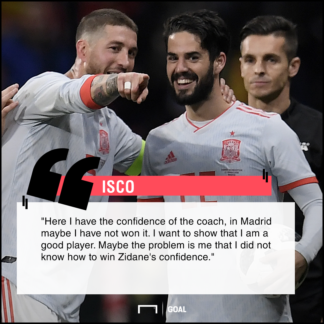 Isco lack of Real Madrid faith