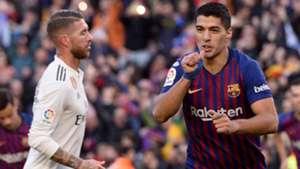 Luis Suarez Sergio Ramos Barcelona Real Madrid LaLiga 28102018
