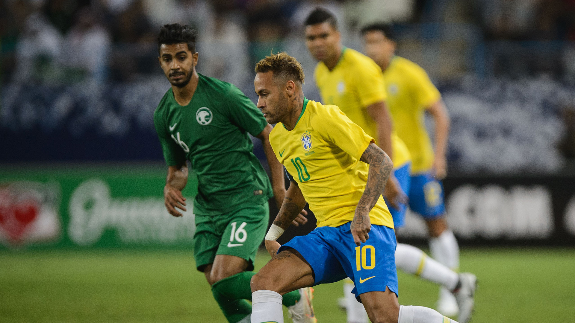 Neymar Al Mogahwi Saudi Arabia Brazil Friendly 12102018