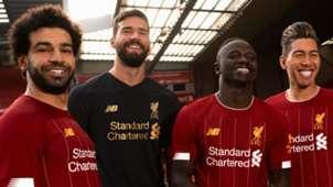 Liverpool kit 2019-20 Salah Alisson Mane Firmino