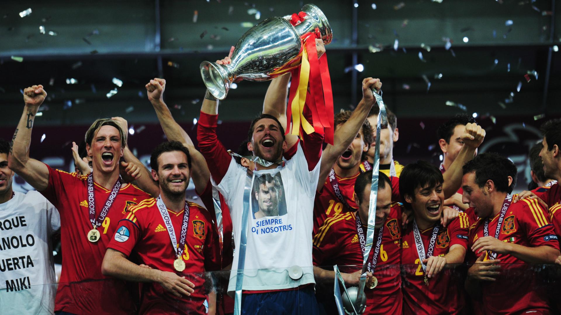 Spain Sergio Ramos Euro 2012