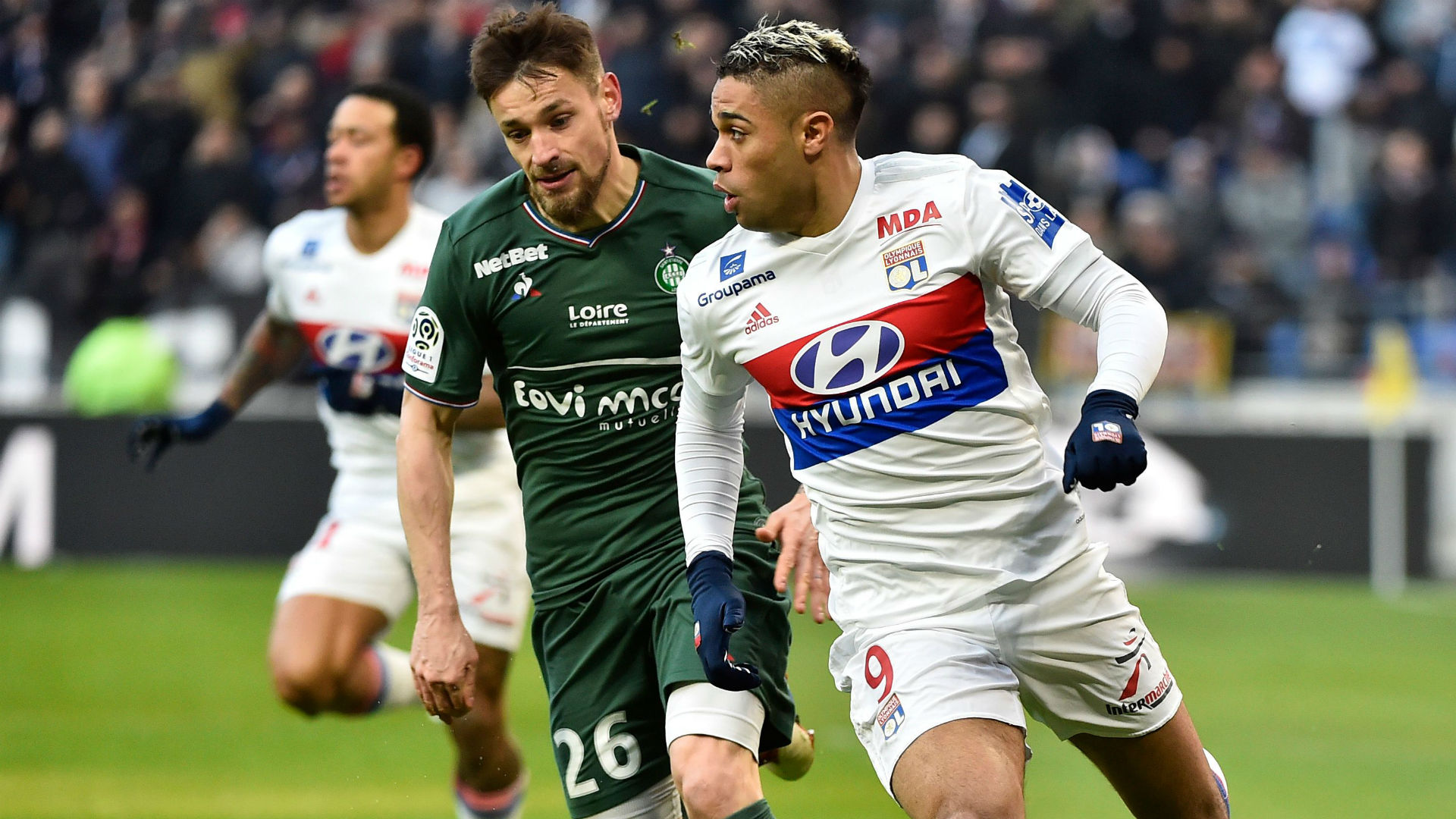 Mariano Diaz Mathieu Debuchy Lyon Saint-Etienne Ligue 1 25022018