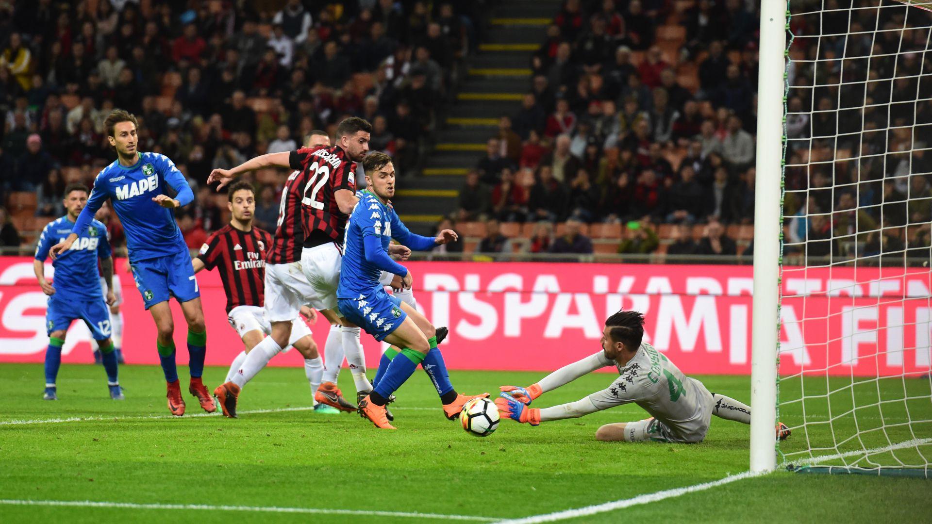 Andrea Consigli Milan Sassuolo Serie A