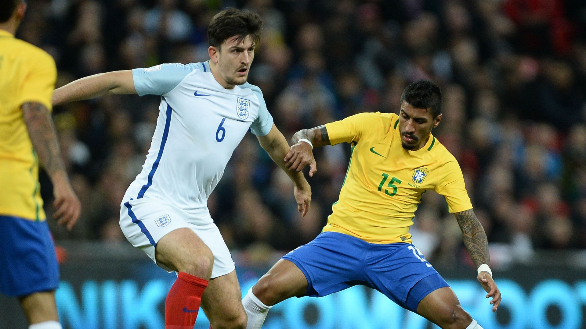 Paulinho Harry Maguire England Brazil Friendly 14112017