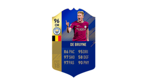 FIFA 18 Ultimate Team of the Season De Bruyne