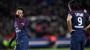 Neymar Cavani PSG Dijon 17 01 2018