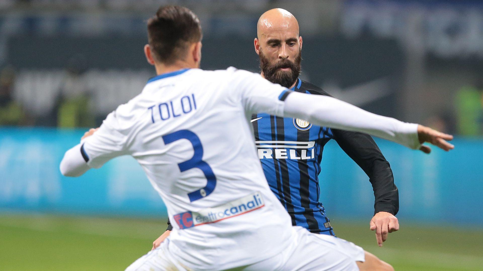 Borja Valero Rafael Toloi Inter Atalanta