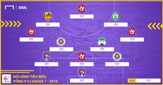 Đội hình tiêu biểu vòng 9 V.League