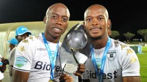 Phumlani Ntshangase and Ben Motshwari of Bidvest Wits