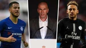 Eden Hazard, Zinedine Zidane, Neymar