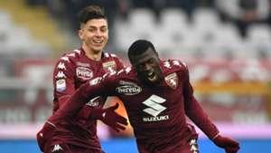 M'Baye Niang celebrating Torino Bologna Serie A 01062017