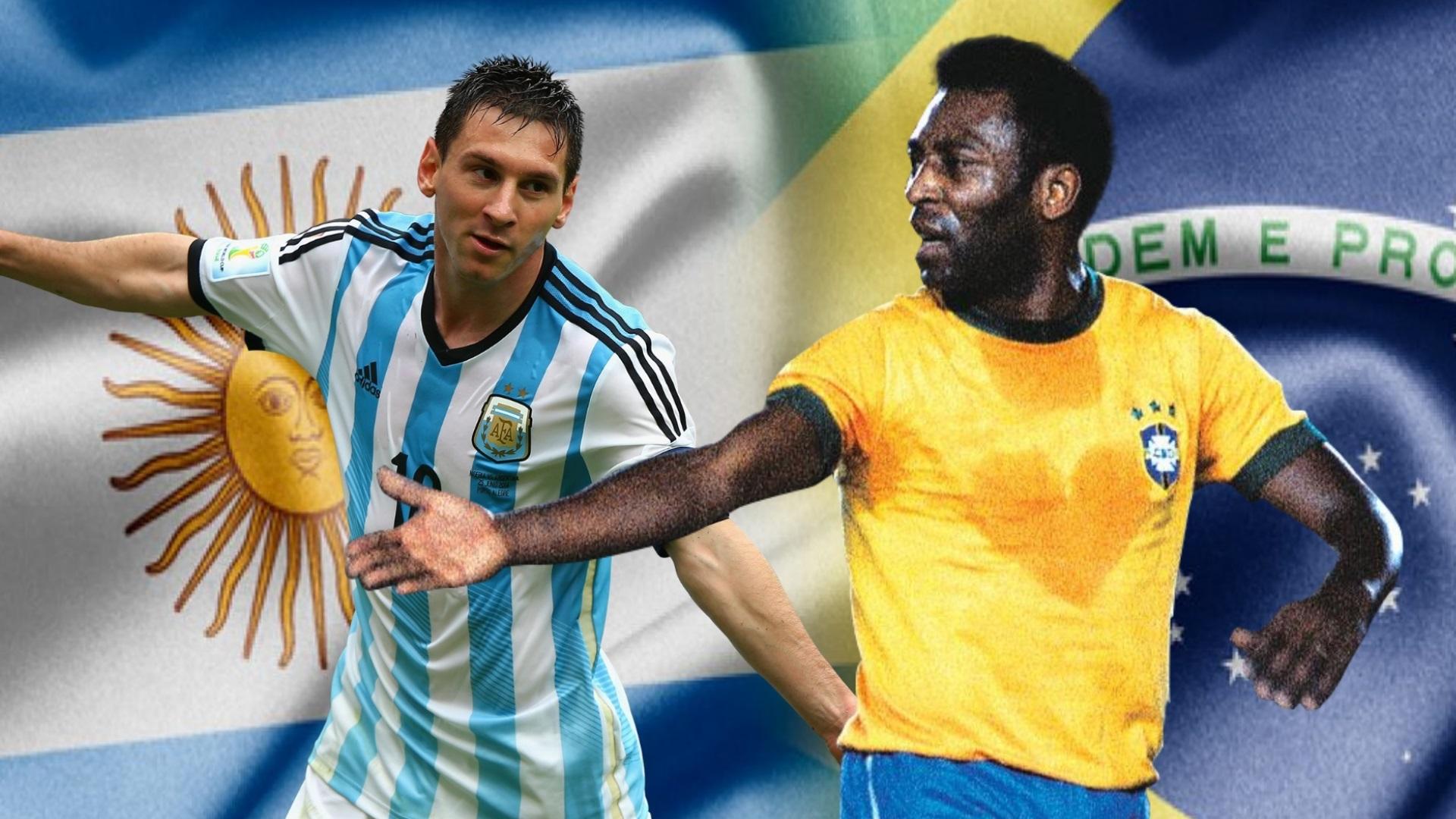 GFX Messi Pelé 26 04 2018