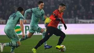 Hatem Ben Arfa Mesut Ozil Rennes Arsenal UEFA Europa 07032018