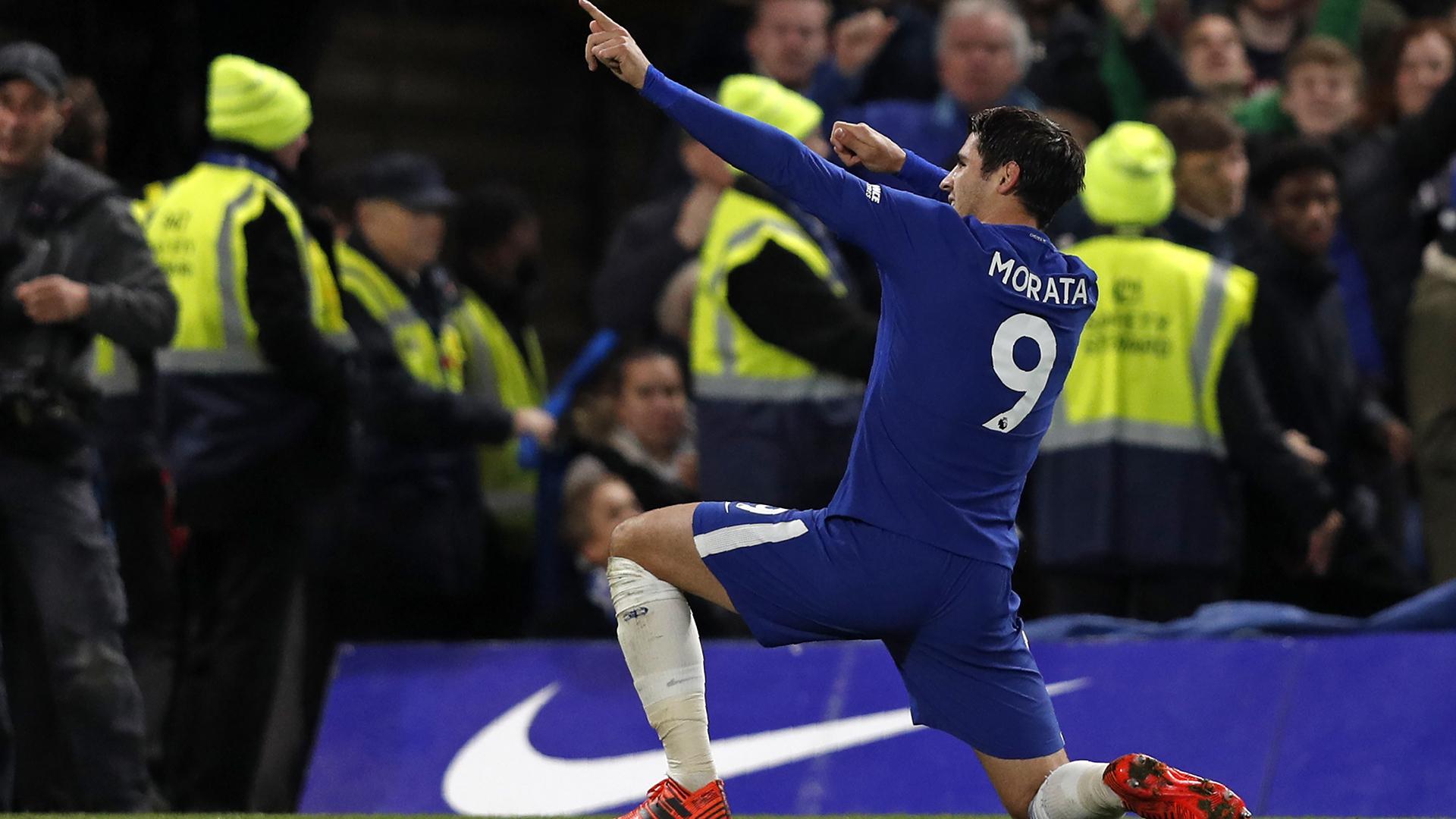 morata ăn mừng bàn thắng