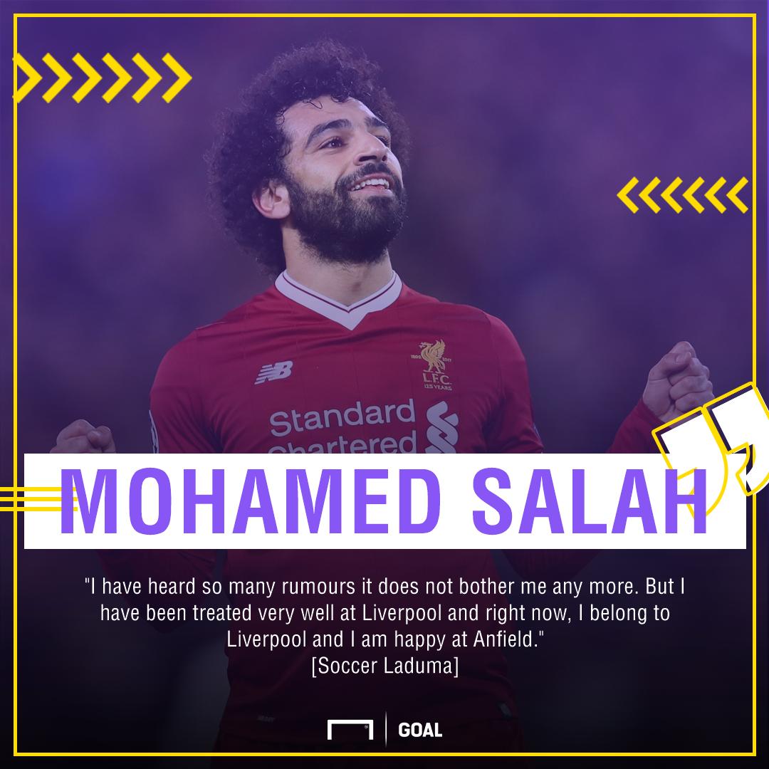 Mohamed Salah ignoring rumours