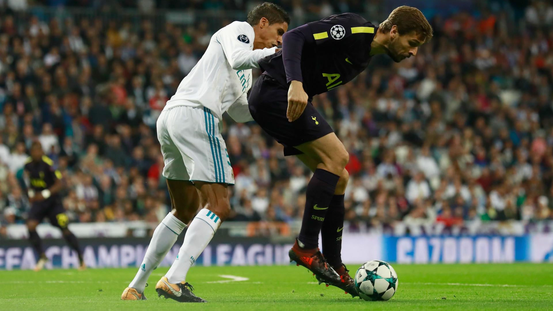 VARANE LLORENTE REAL MADRID TOTTENHAM CHAMPIONS LEAGUE