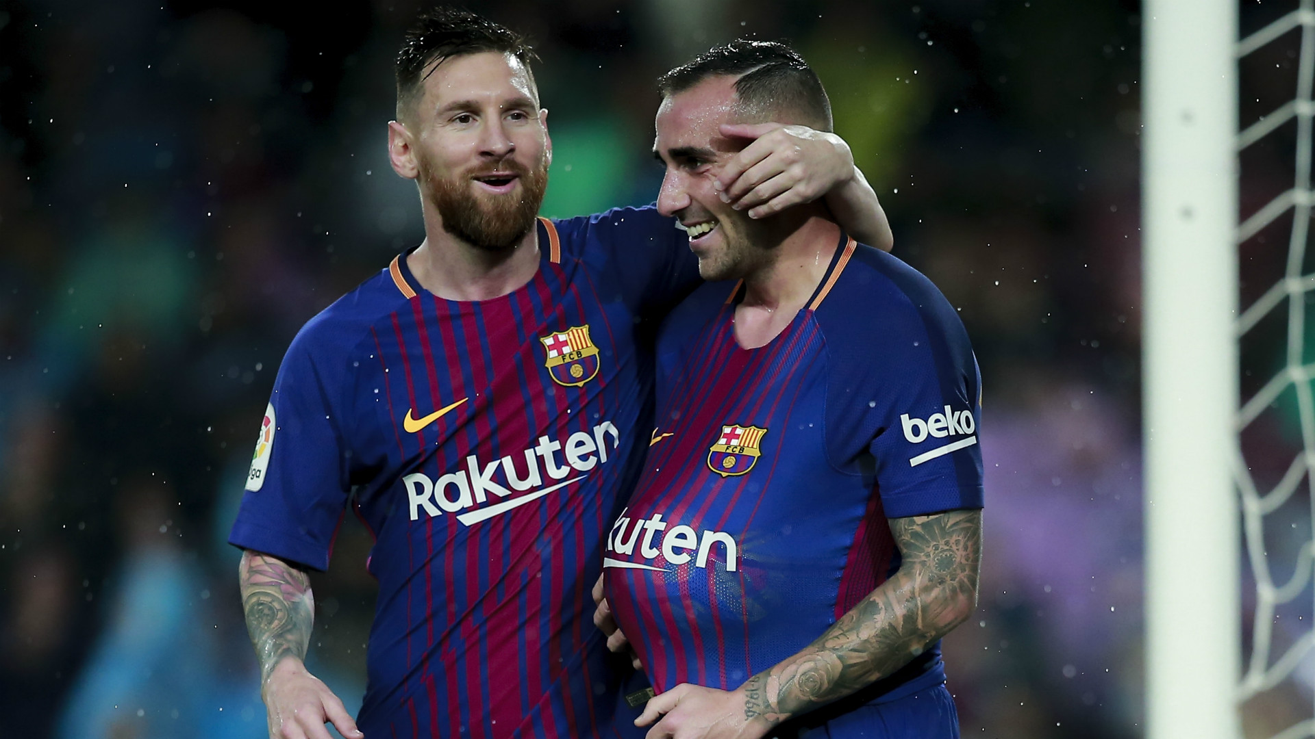 Lionel Messi Paco Alcacer Barcelona