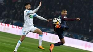 Morgan Sanson Kylian Mbappe PSG Marseille Coupe de France 2802018