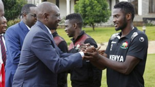 William Ruto and Musa Mohammed of Harambee Stars and Gor Mahia.