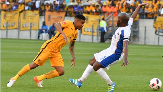 George Lebese and Sandile Zuke - Kaizer Chiefs v Chippa United.