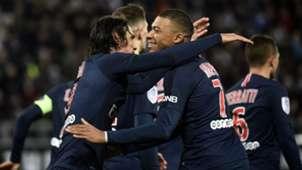 Edinson Cavani Kylian Mbappe Amiens PSG Ligue 1 12012018