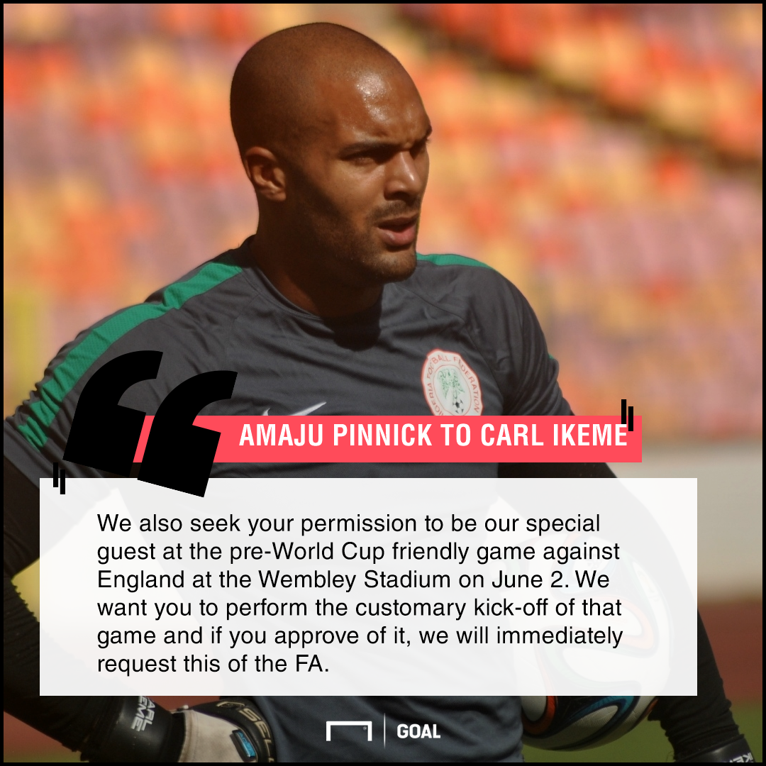 NFF to honour Carl Ikeme in England friendly