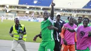 Gor Mahia striker Dennis Oliech celebrates v Zamalek