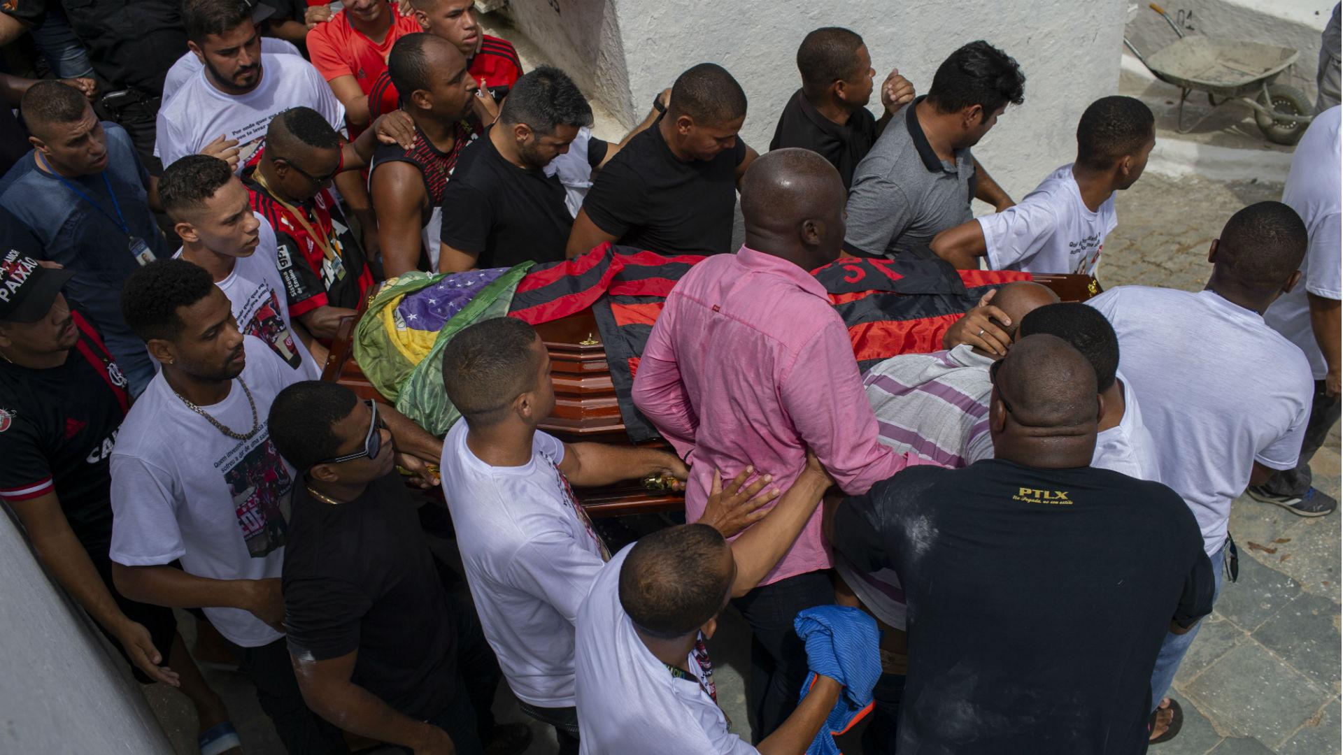Flamengo garotos do Ninho enterro 19 02 2019
