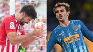 Diego Costa Antoine Griezmann Atletico Madrid collage