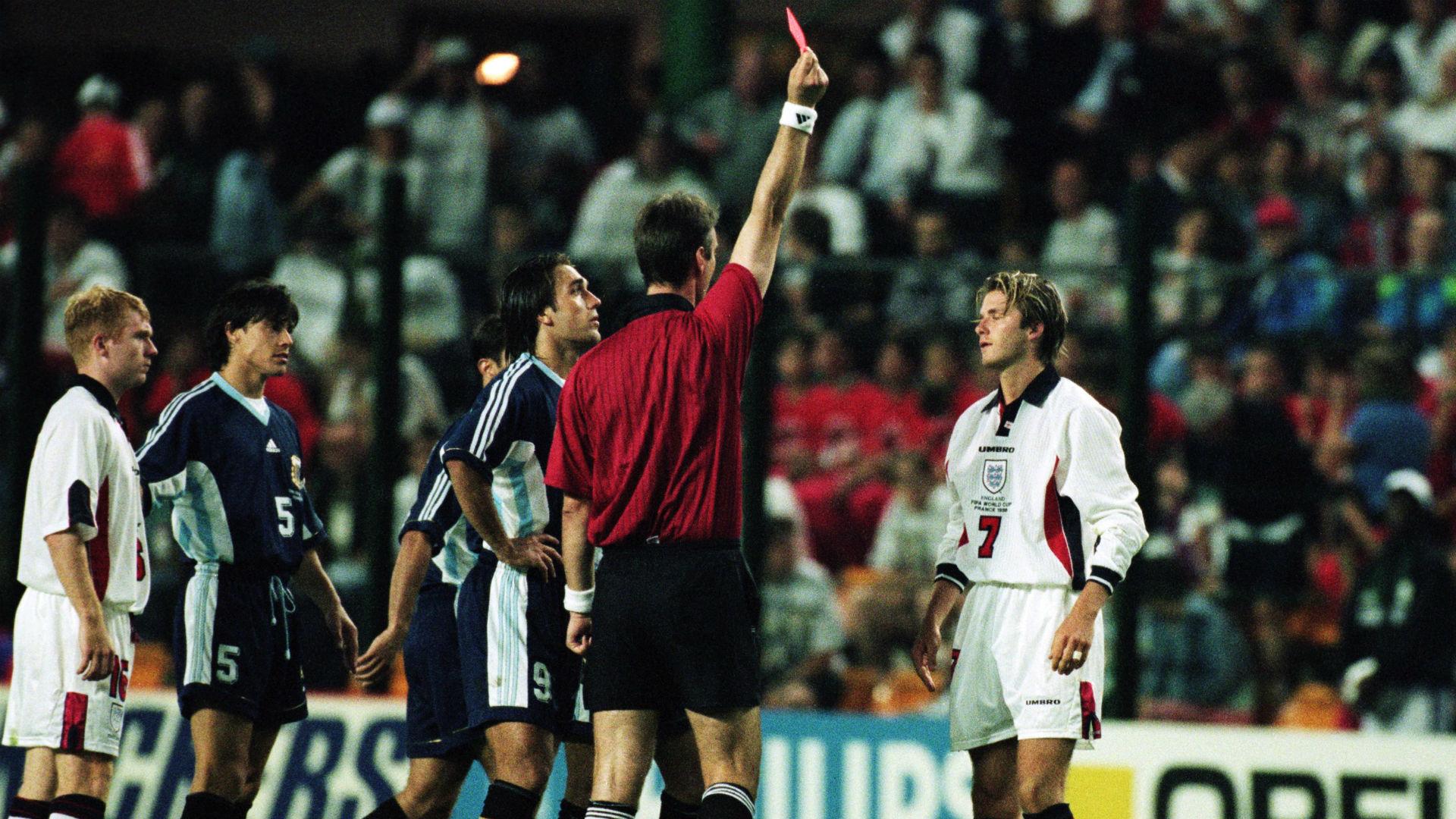 David Beckham red card World Cup 1998