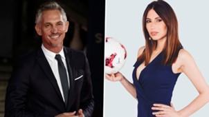 Gary Lineker Maria Komandnaya World Cup 2018 presenters