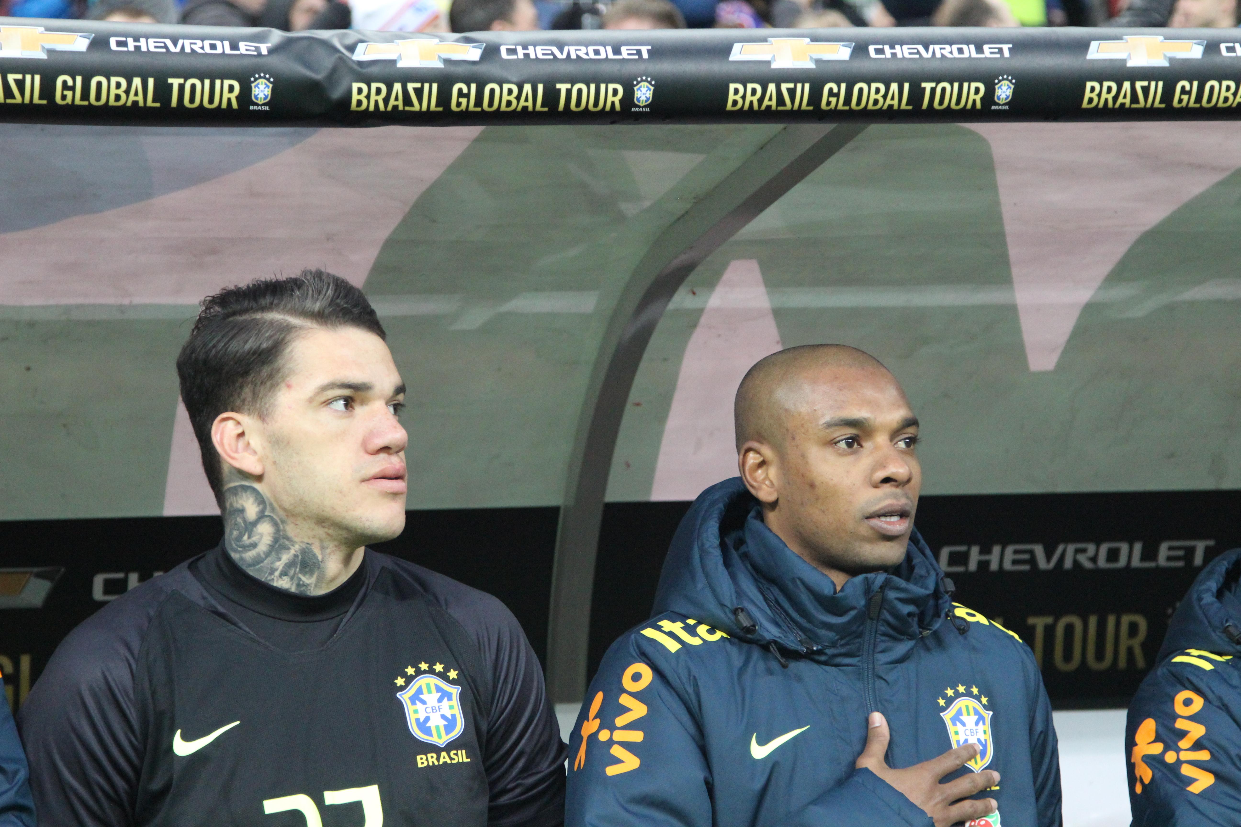 Fernandinho Ederson Brazil Germany BGT 27032018
