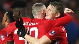 Wayne Rooney Bastian Schweinsteiger Manchester United Wigan