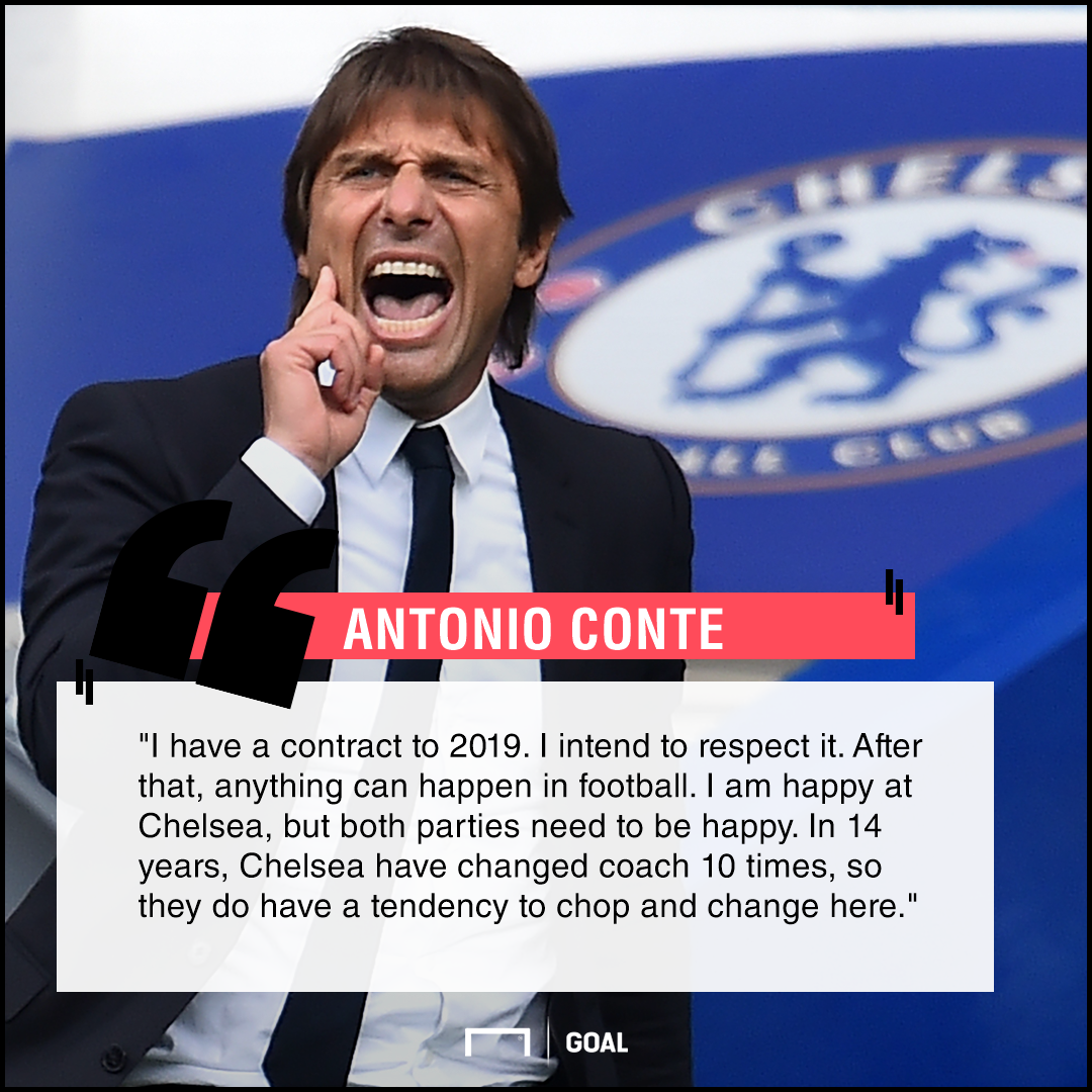 Antonio Conte honour Chelsea contract