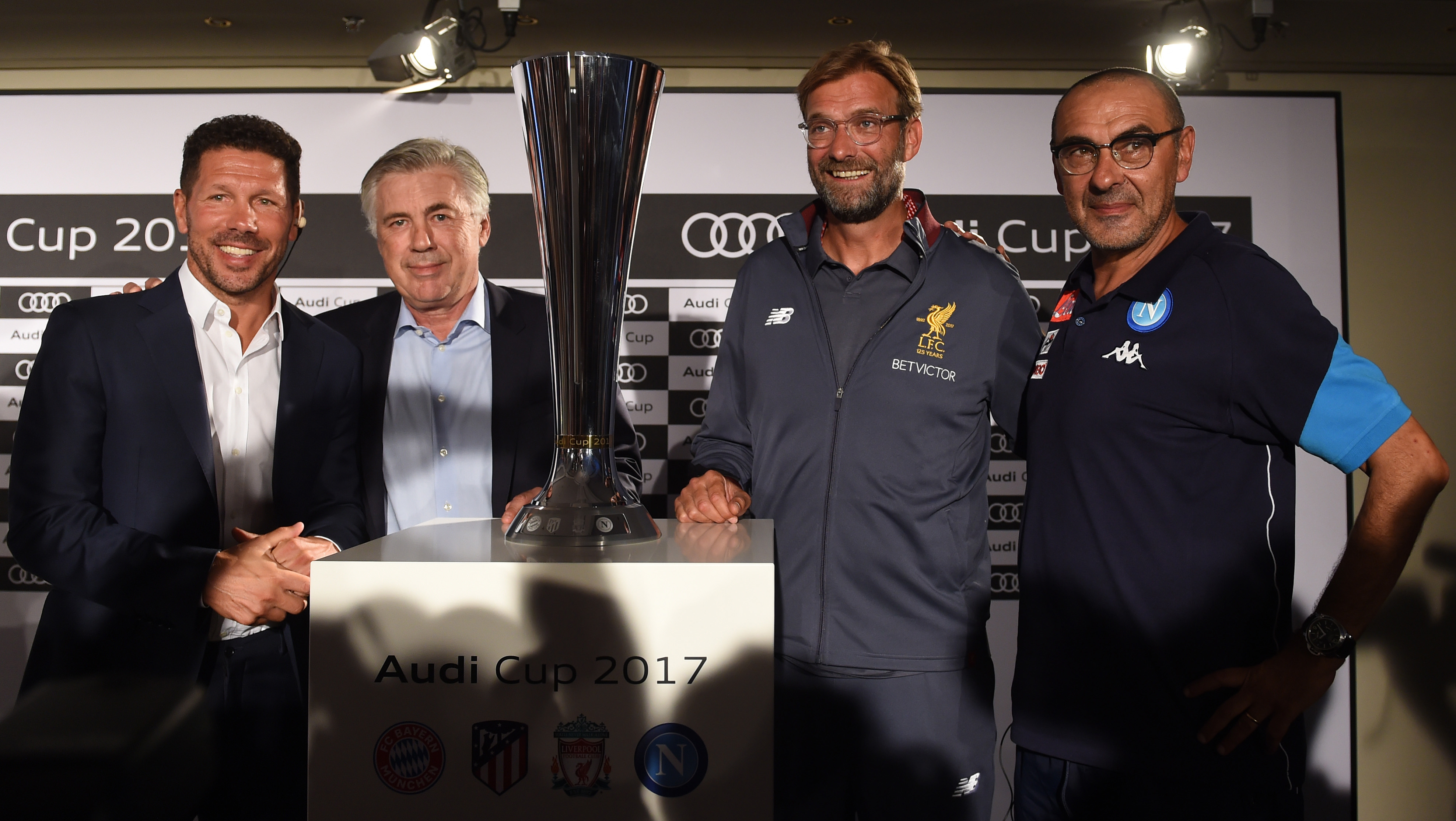 Diego Simone, Carlo ancelotti, Jürgen Klopp, Maurizio Sarri, Audi Cup, 31072017