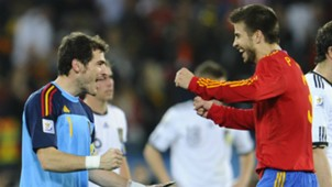 Gerard Pique Iker Casillas Spain WC 2010
