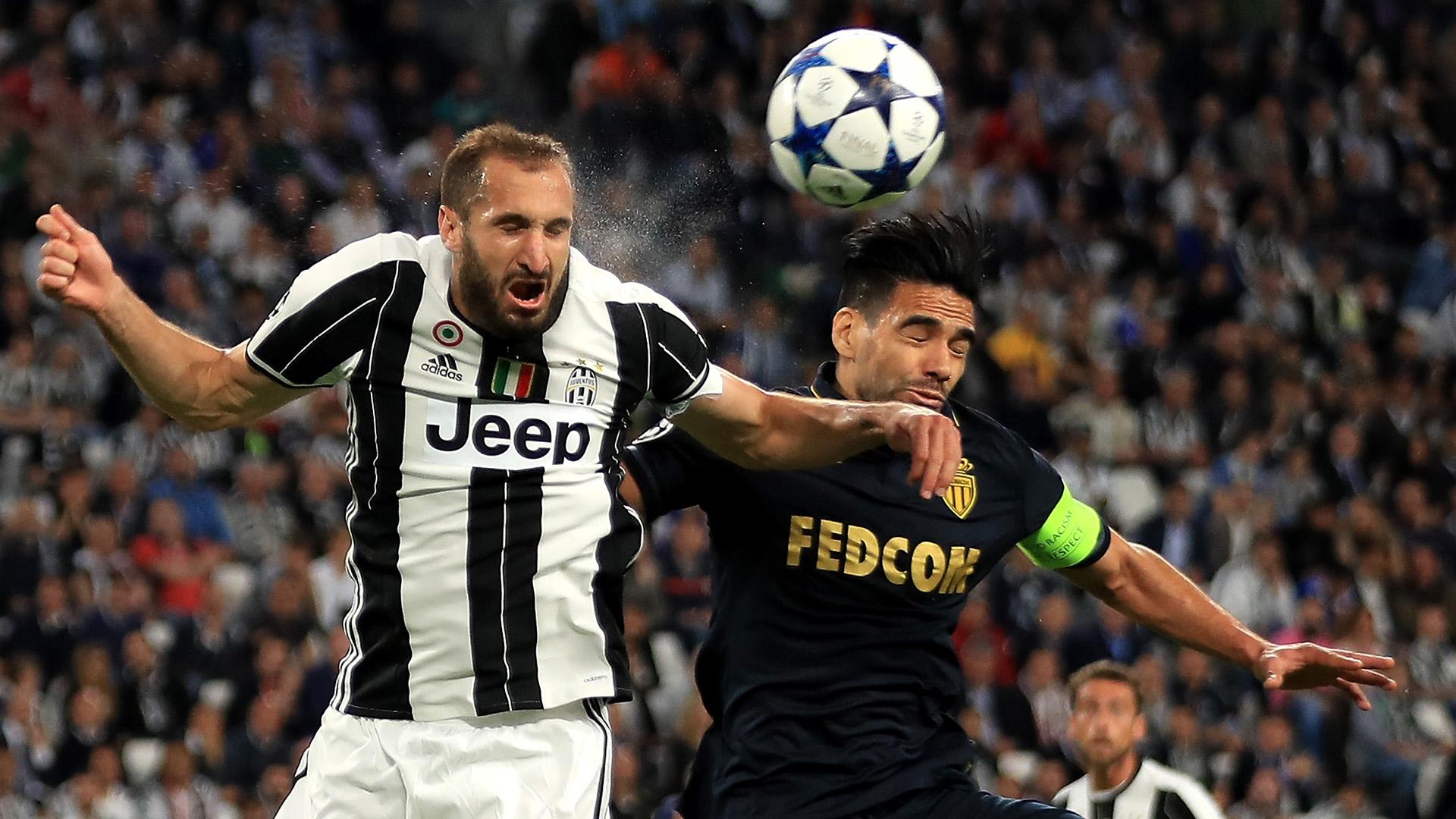 Chiellini Falcao Juventus Monaco Champions League