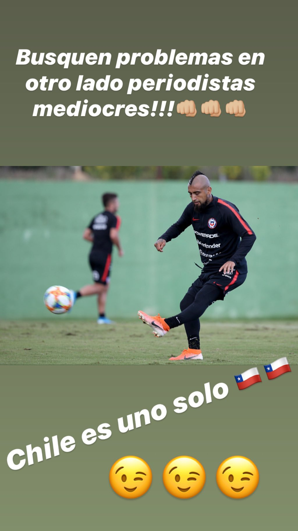 Arturo Vidal post Chile 101019