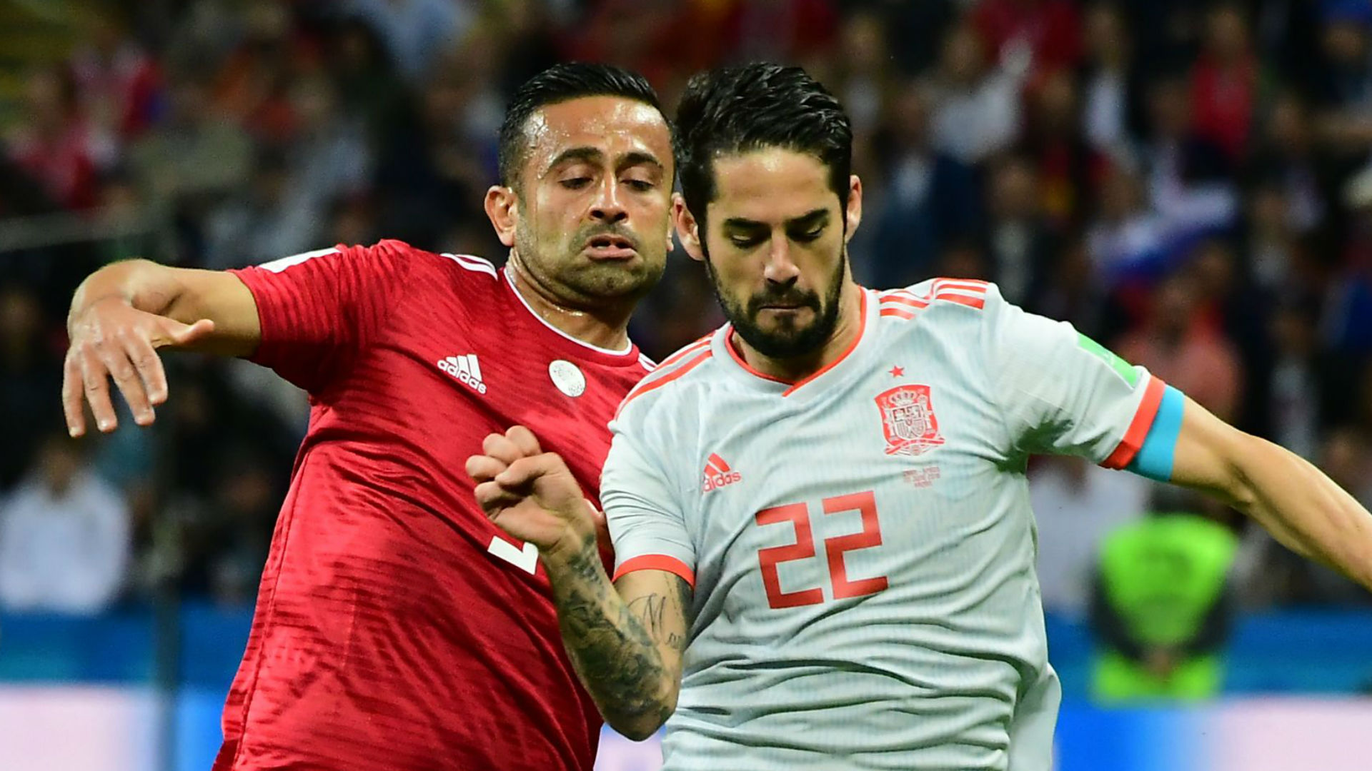 Isco Omid Ebrahimi Spain Iran World Cup