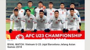 U23 Việt Nam trên báo Indo