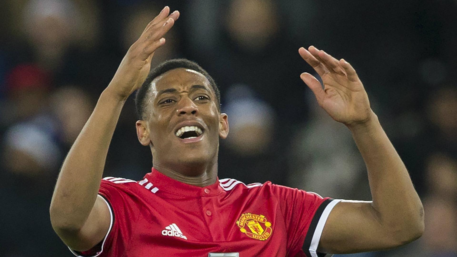 Anthony Martial, Leicester vs Man Utd, 17/18