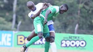Dennis Odhiambo of Sofapaka v Innocent Wafula of Gor Mahia.