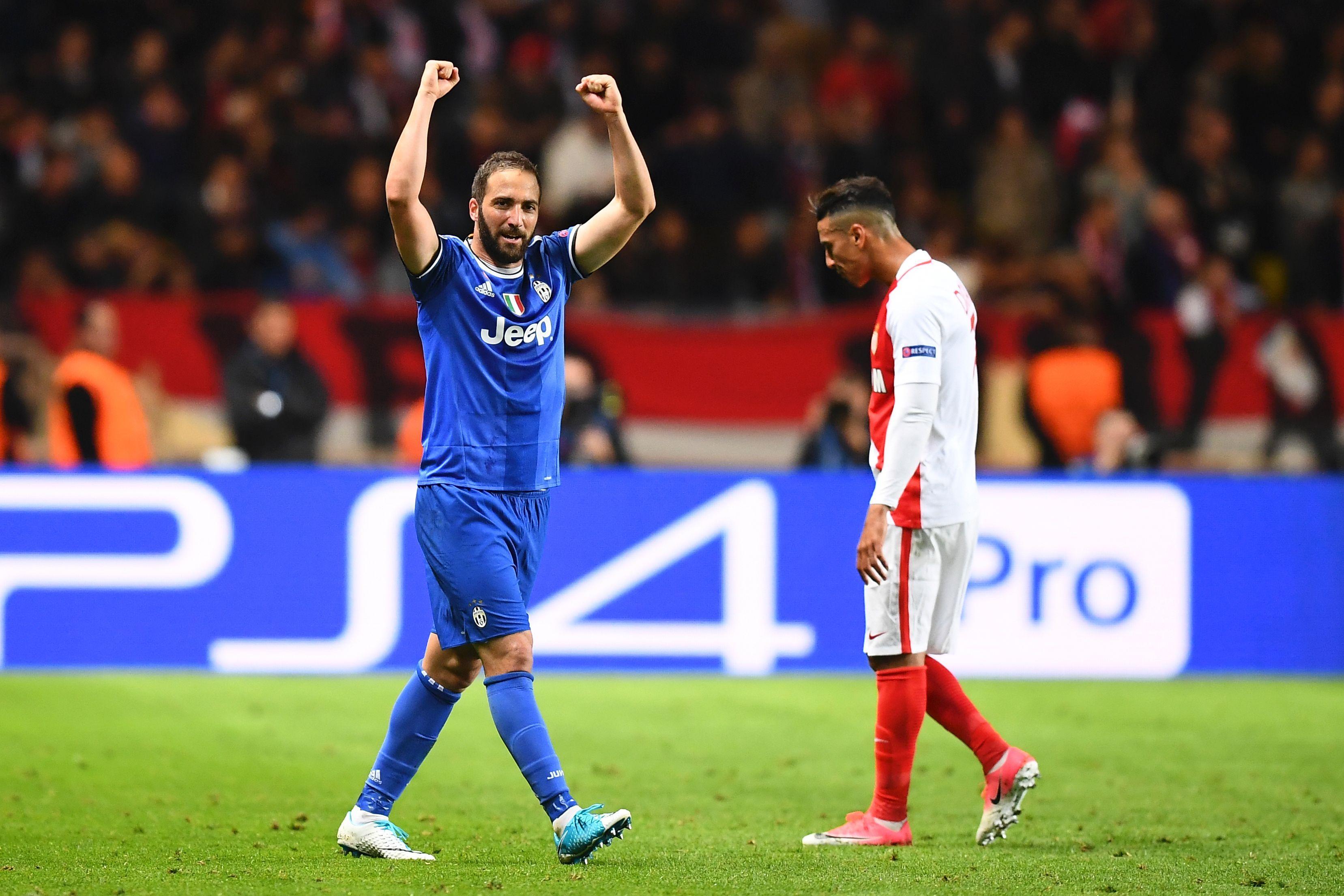 Gonzalo Higuain Monaco Juve Champions League 03052017