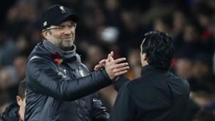 Jurgen Klopp Unai Emery Liverpool Arsenal 2018-19