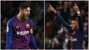 Messi/Mbappe split