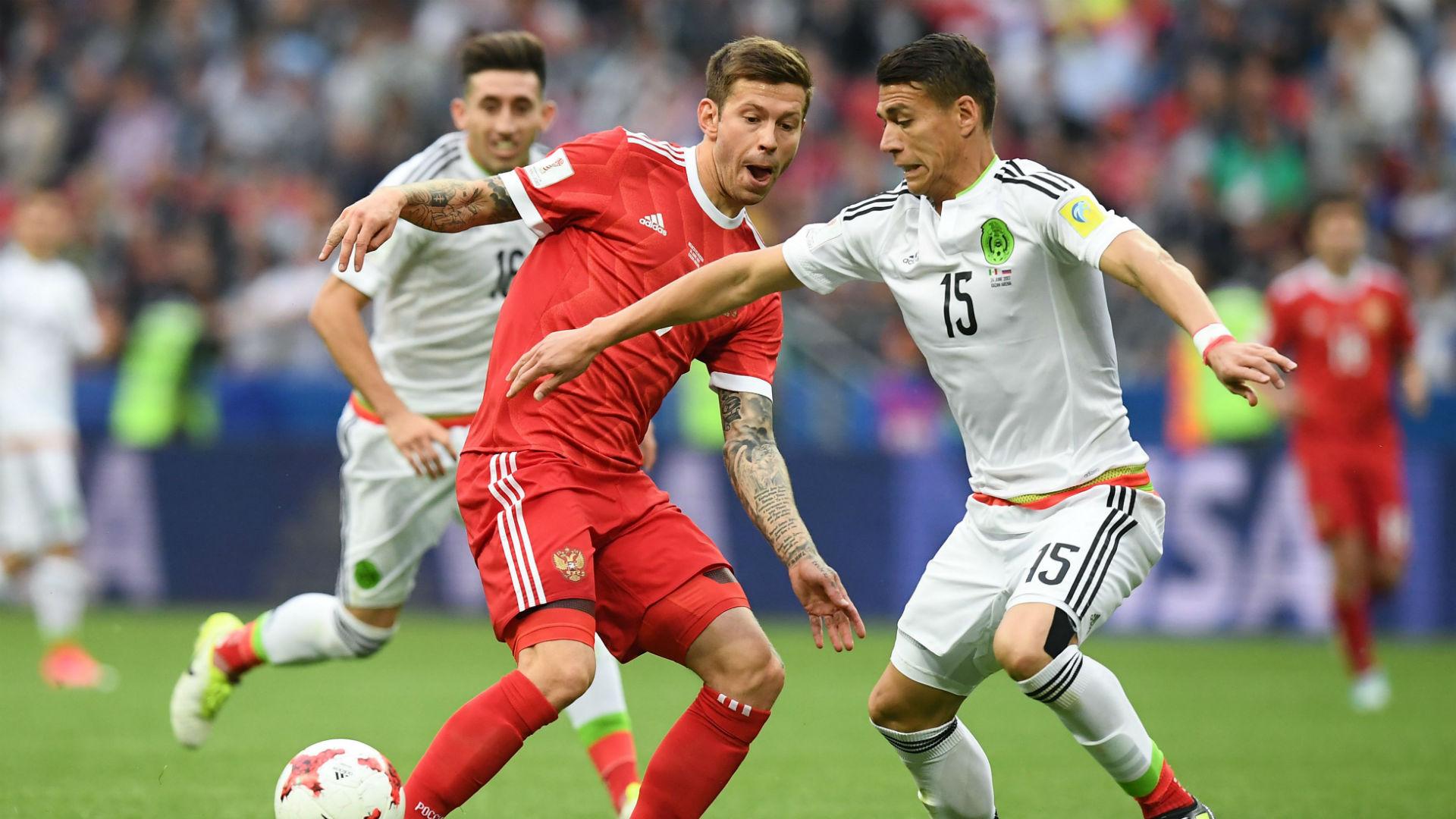 Hector Moreno Igor Smolnikov Mexico Russia Confederations Cup