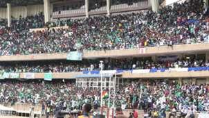 Gor Mahia fans v AFC Leopards at Kasarani.