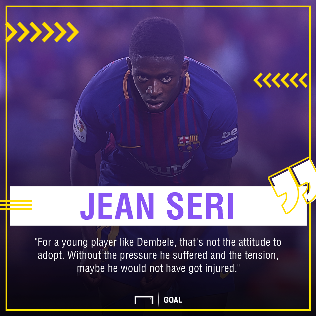 Jean Seri Ousmane Dembele Barcelona attitude wrong