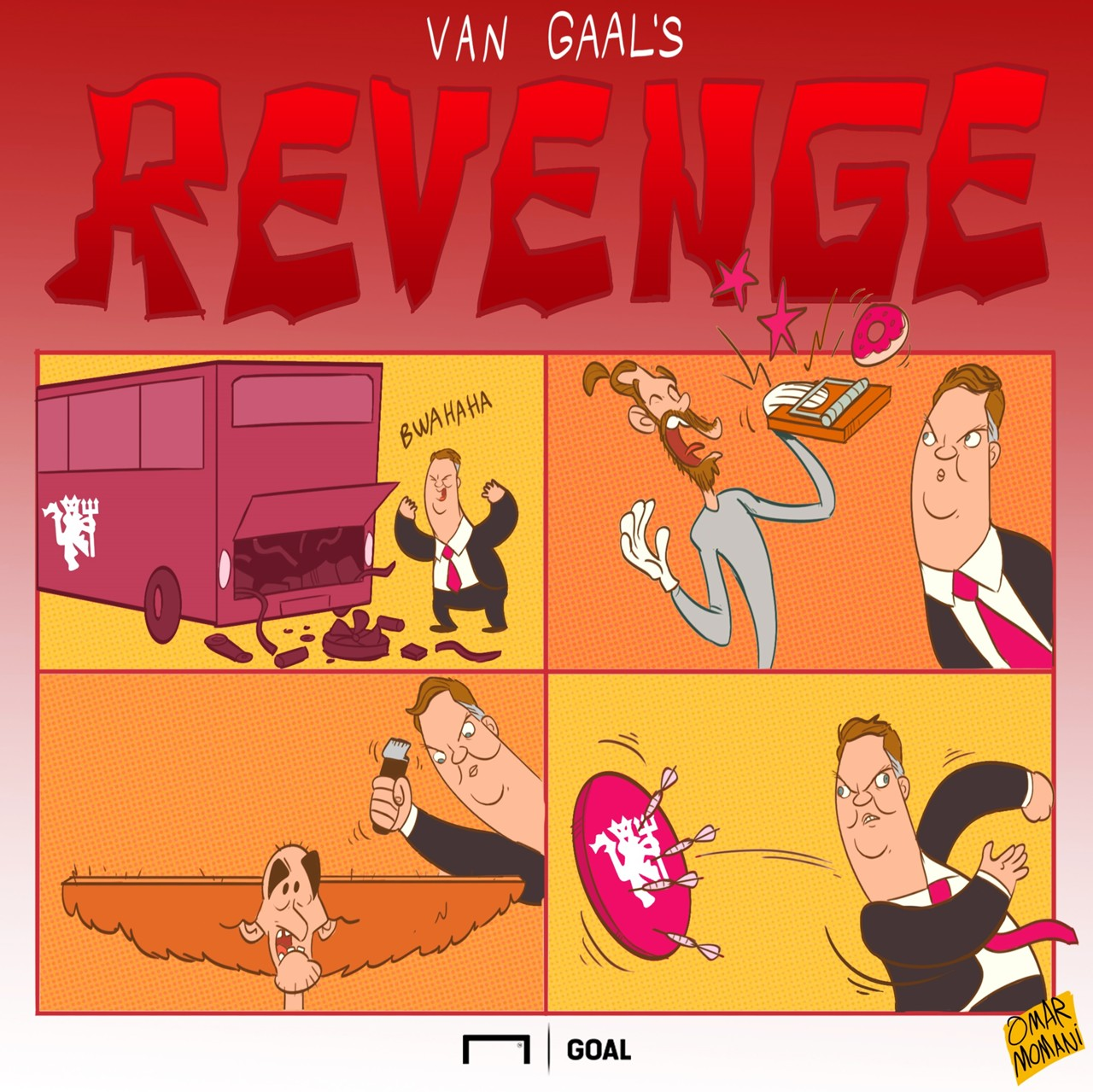 Cartoon van Gaal